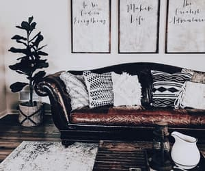 aesthetic, brown, and living room image