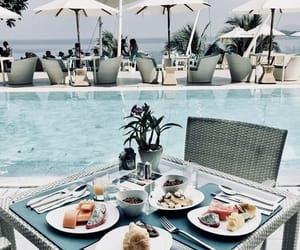 beach, breakfast, and thailand image