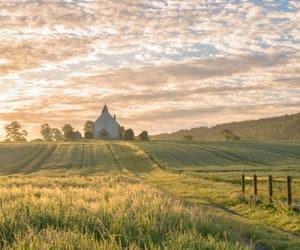 beautiful, church, and countryside image