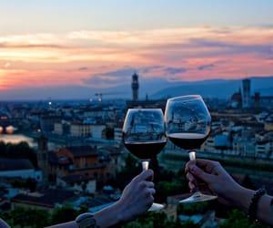 wine, city, and sky image