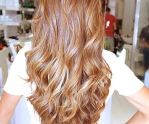 hairstyle and caramel hair image