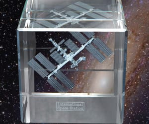 astronomy, international space station, and sculpture image