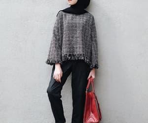 hijab, monochrome, and style image