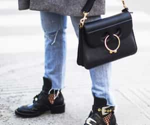 bag, black, and jeans image