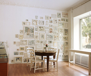 bedroom, frames, and wall image