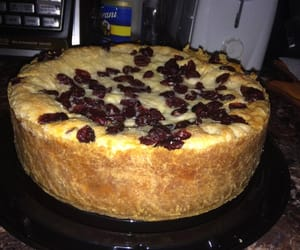 cheesecake, cranberry, and whitechocolate image
