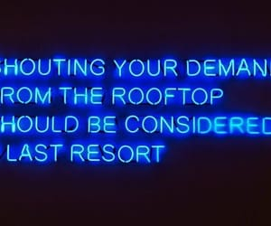 quotes, neon, and blue image