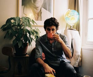 boy, vintage, and coffee image
