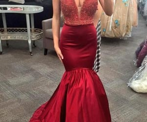 dress, mermaid, and prom dress image