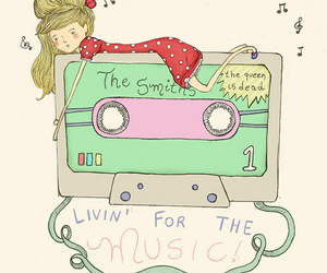 the smiths, girl, and music image