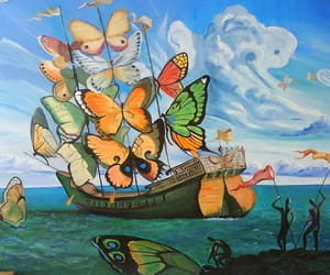 butterfly, dali, and art image
