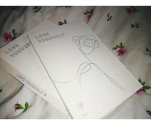 album, rose, and white image