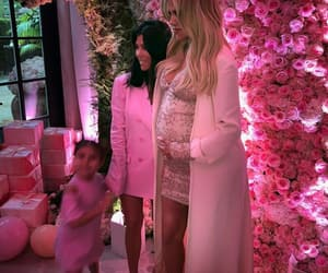 family, pink, and baby shower image