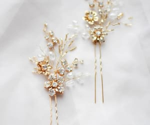 flower crystal, bridal headpiece, and bridal accessory image