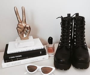 book, boots, and fashion image