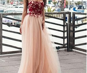 evening dress, a-line prom dress, and party dress image