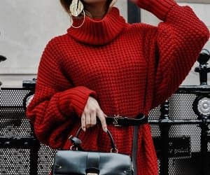 babe, fashion, and red image
