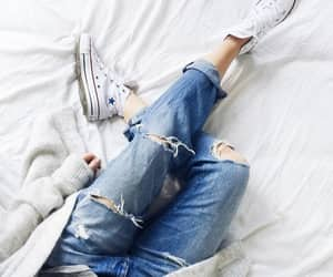 converse, denim, and fashion image