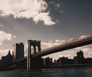 aesthetic, architecture, and brooklyn bridge image