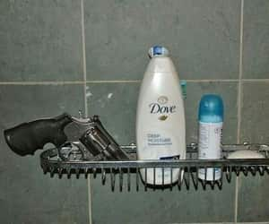 gun, dove, and shower image