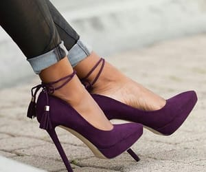 chic, heels, and lilac image