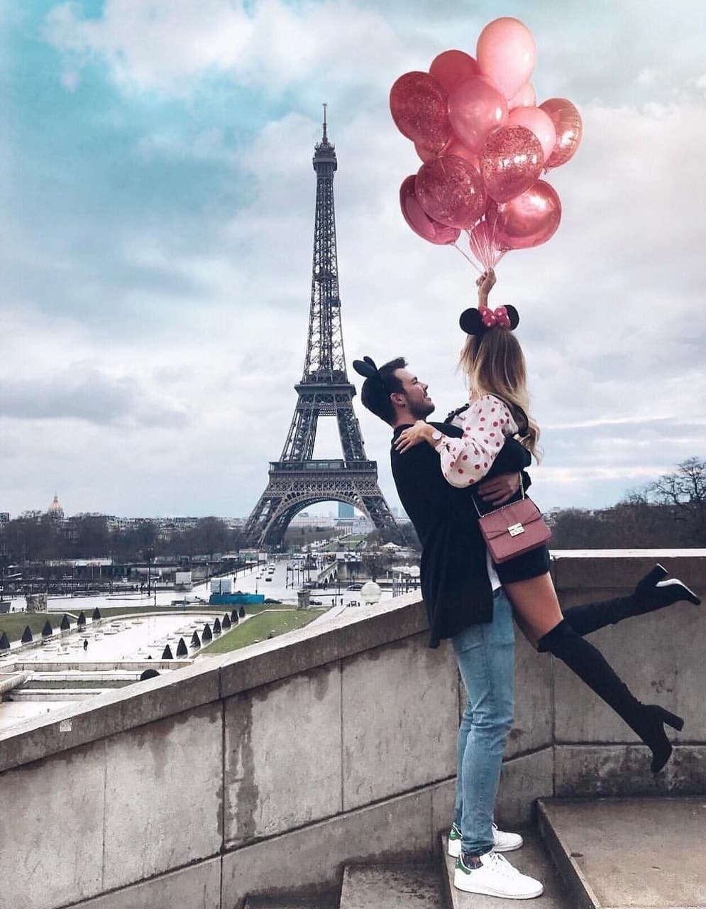 girl, couple, and paris image