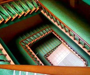 green, stairway, and staircase image