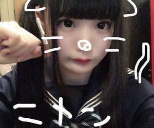 黒髪, ツインテール, and 🐱 image