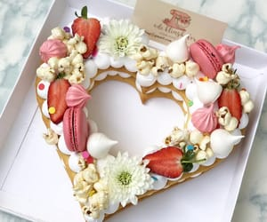 heart, yummy, and cake image