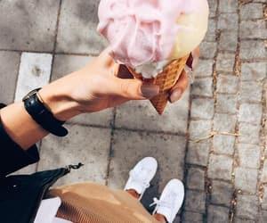 food, fashion, and ice cream image