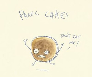 funny, pancakes, and cake image
