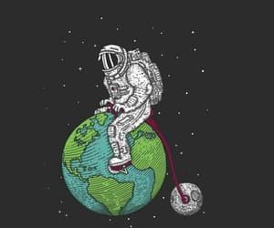 astronauta, earth, and wallpaper image