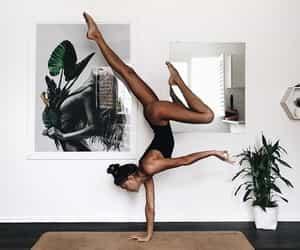 yoga, fitness, and girl image