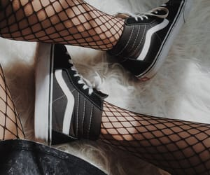 fishnets, fur, and tumblr image