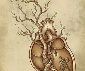 heart, illustration, and work image