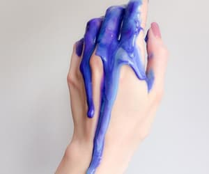 blue, pale, and hair dye image