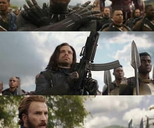 black panther, steve rogers, and winter soldier image