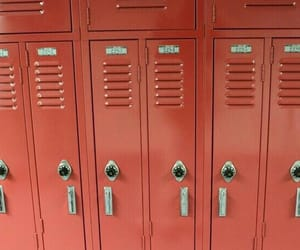 red, locker, and aesthetic image