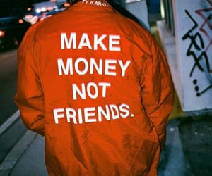 money, friends, and red image