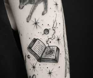 tattoo, book, and magic image