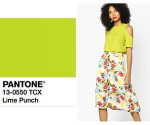 lime green, spring fashion, and pantone colors image