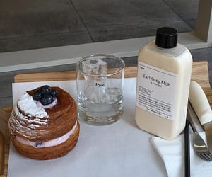 aesthetic, cafe, and milk image