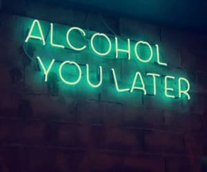 neon, alcohol, and green image