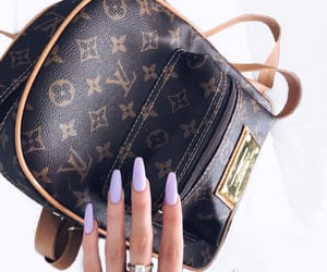 Louis Vuitton, nails, and nail inspo image