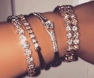 bracelet, diamonds, and jewelry image