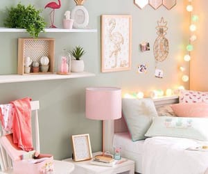 bedroom, pink, and decoration image