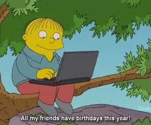 the simpsons, friends, and birthday image