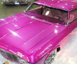 cars, vintage, and pink image