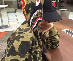 girl, bape, and clothes image