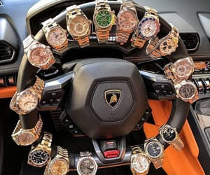 watch, luxury, and car image